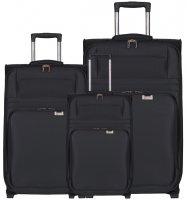 Sada cestovních kufrů AEROLITE T-9515/3 - černá