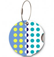 Jmenovka na kufr Addatag - Multi Dots Blue