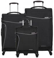 Sada cestovních kufrů SIROCCO T-1201/3 - černá