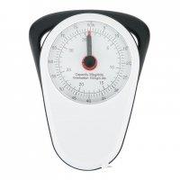Retro analogová závěsná váha, Loooqs, bílá